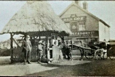 Red Cow and pump in the village