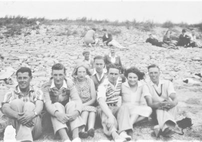 Bill Bishop and friends at Canvey Beach 1930's