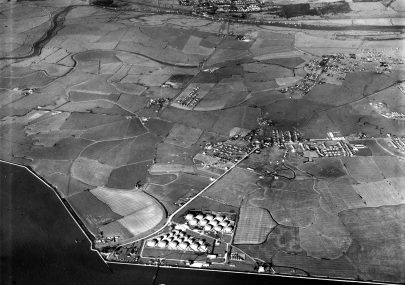 1949 - Aerial photo of the terminal