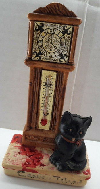 Canvey Thermometer and lucky black cat
