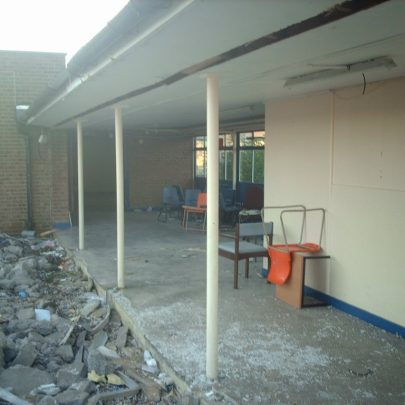 The rubble that was Furtherwick Park in 2010