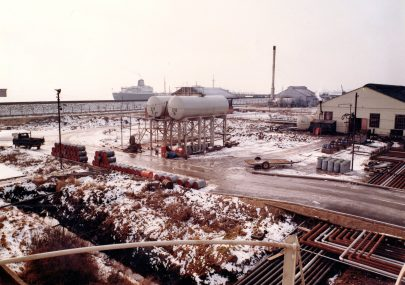 1970 winter scene
