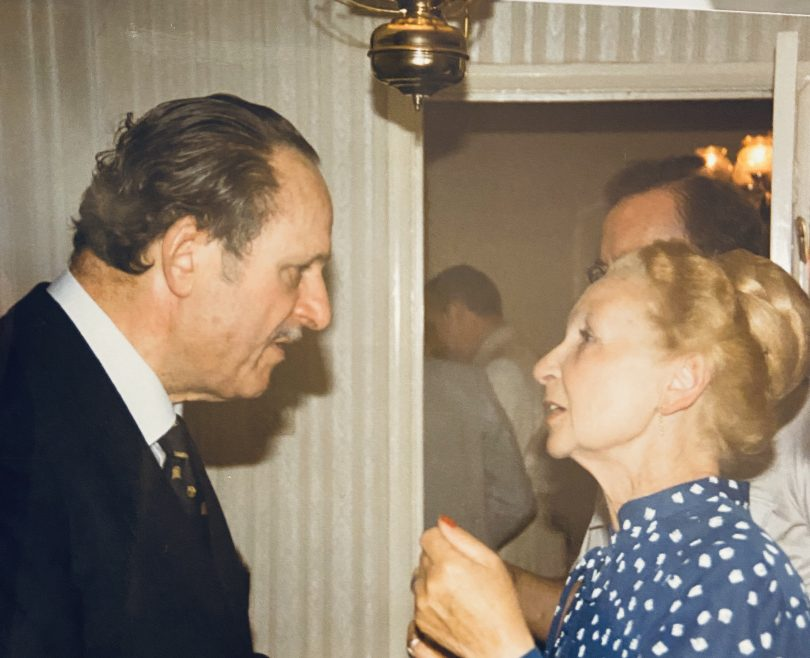 Jeanette Mitchell and Sir Bernard Braine
