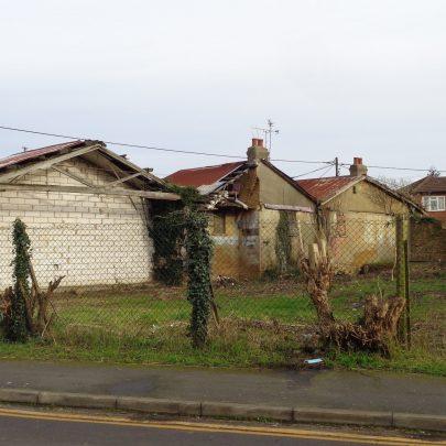 Rear view of old shops. | J.Walden