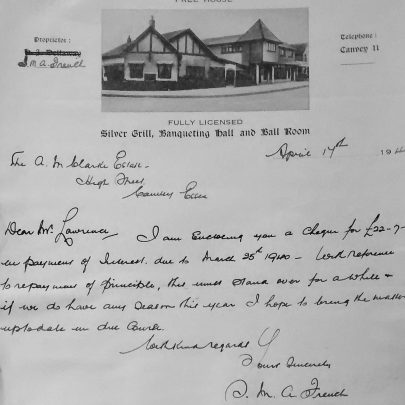 Letter from Selina French sent during the time she was in charge at the Haystack.