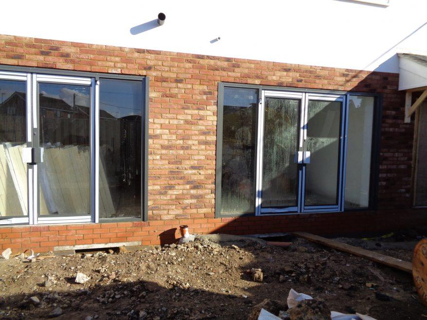 Close up of ground floor of new build. | J.Walden