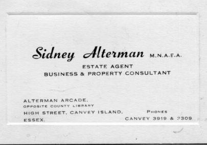 Sidney Alterman - memorabilia