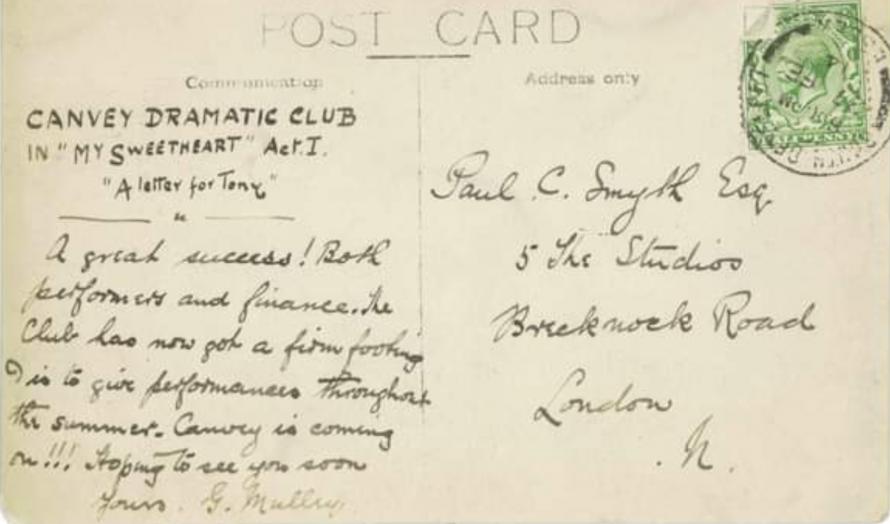 Canvey Dramatic Club c1914