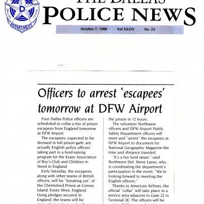 The Dallas Police News JAILBREAK report