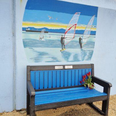 windsurfers on the Estaury. | J.Walden