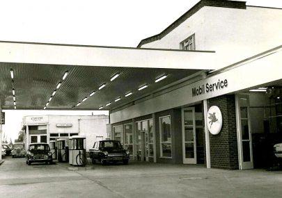 Mobil Garage in the village c1970s