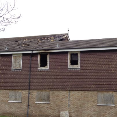 Fire damage to the roof and part of the first floor. | Janet Walden