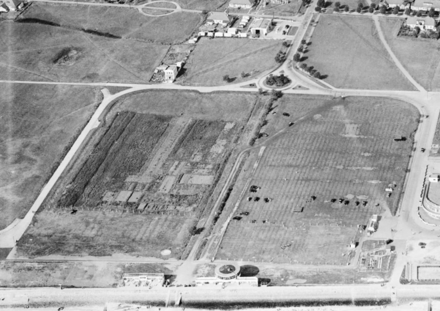 Labworth Field 1949 showing the allotments.