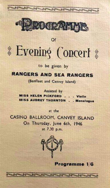Rangers and Sea Rangers Concert 1946