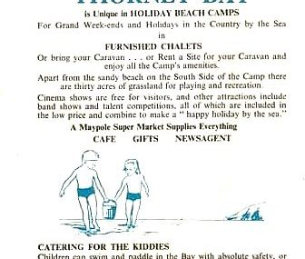 Thorney Bay Camp advert