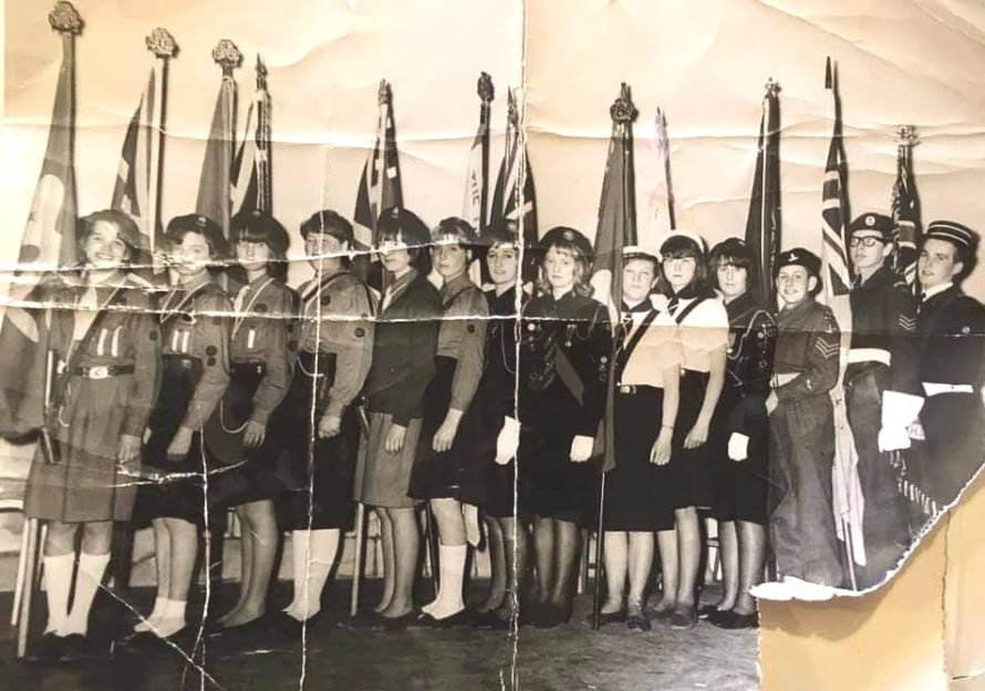 Lots of Canvey youth organisations represented here year roughly 1965. From left to right I'm the 6th guide in. | Janet Cotgrove