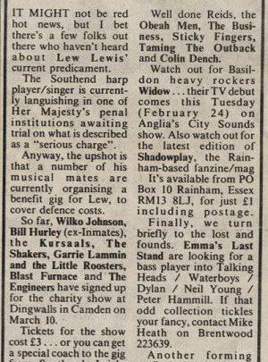 Lew Lewis 1987