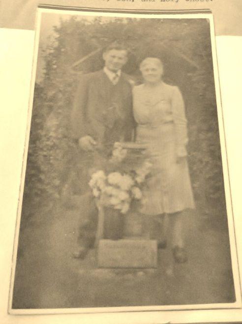 Posing behind the sundial.   Graham Stevens