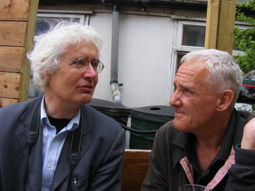 Lew with Malc Wilkinson.