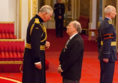 Ray Howard MBE with Prince Charles