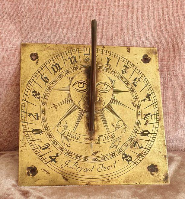 Restored sundial.   Graham Stevens