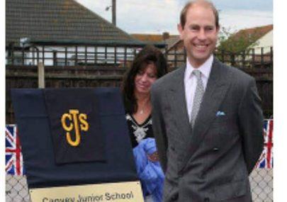 Prince Edward visits Canvey Junior School