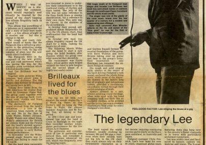 Lee Brilleaux Obituary 1994