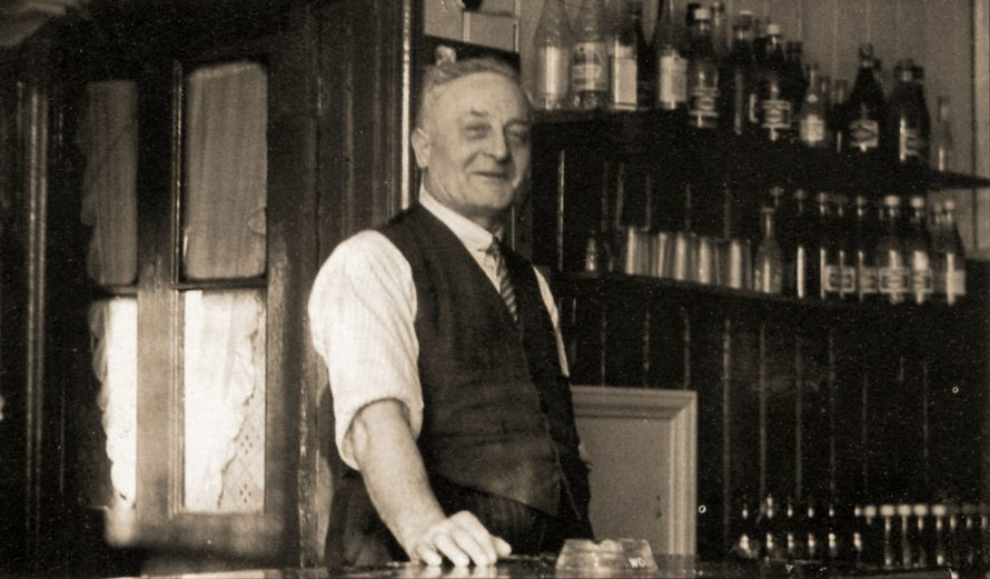 Wally Brown behind the counter of the café