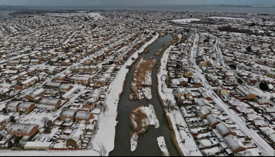 Aerial in the snow