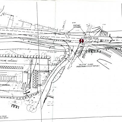 Plan of the centre showing the layout and landscaping