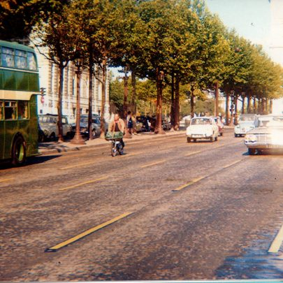 In Paris with the Arc de Triomph in sight. | John and Richard Gent