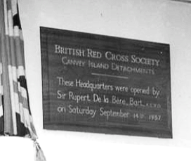 Opening Red Cross Hall 1957