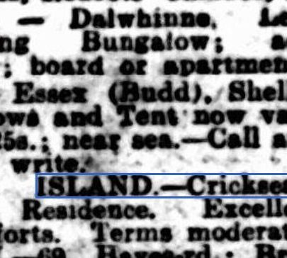 Three properties on Canvey advertised in the Westminster Gazette in 1927