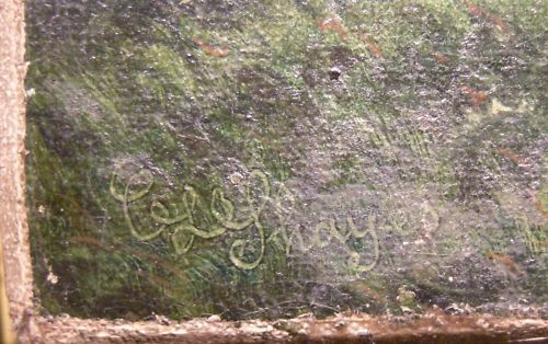 Charles Lloyd Shayes signature from the painting