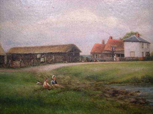 The farm buildings enlarged