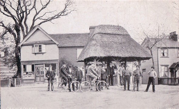 The Village Pump and old Post Office | Published by kind permission of the late Mr H.A. Osborne and Mr R.W Osborne.