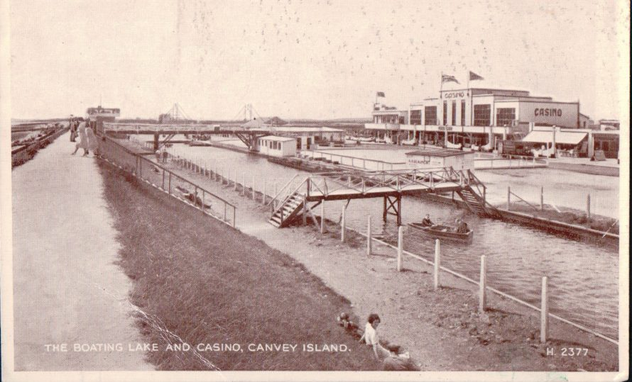 Boating Lake and Casino | Published by kind permission of the late Mr H.A. Osborne and Mr R.W Osborne.