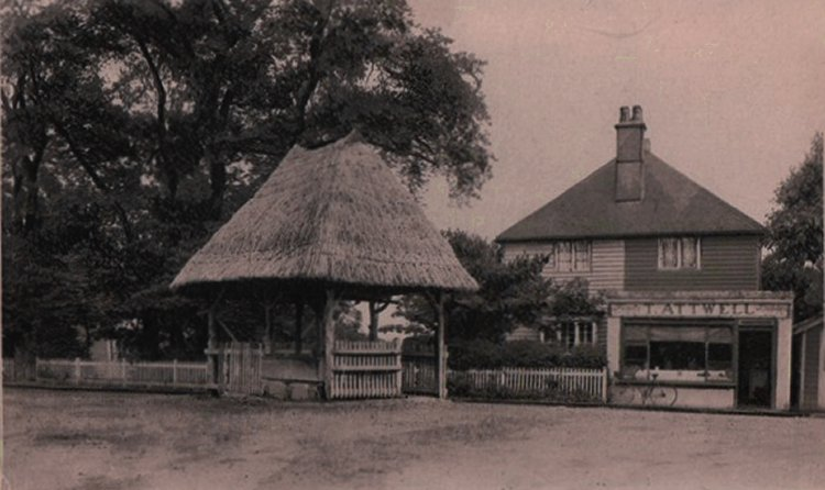 Canvey Pump and Attwells the Butchers   Published by kind permission of the late Mr H.A. Osborne and Mr R.W Osborne.