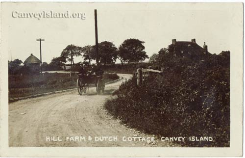 Travelling South down Canvey Road from the Bridge past Hill Farm towards the Dutch cottage - Canvey Island | Jim Gray