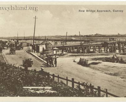 Looking south east at the 'New' Bridge with the old ferry road vearing right | Jim Gray