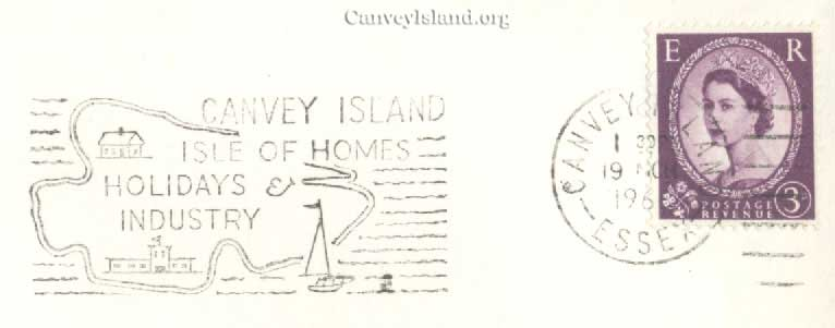 Canvey Island rare Post Mark - 1966 | Thanks to Jim Gray
