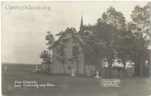 Heading East we find Saint Katherines Church - a rare east view - Canvey Island | Jim Gray