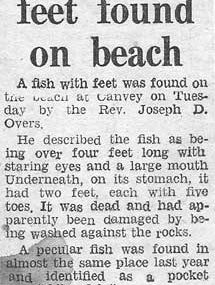 Rev Joseph Overs & the Canvey Island Monster!