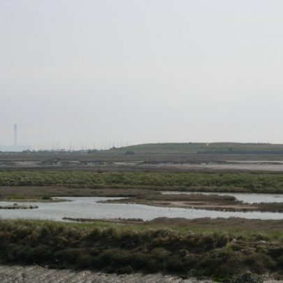 Canvey Heights viewed from the footpath to Leigh | Janet Penn