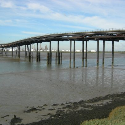 The decaying Occidental Deep Water Jetty with the view to Coryton | Janet Penn