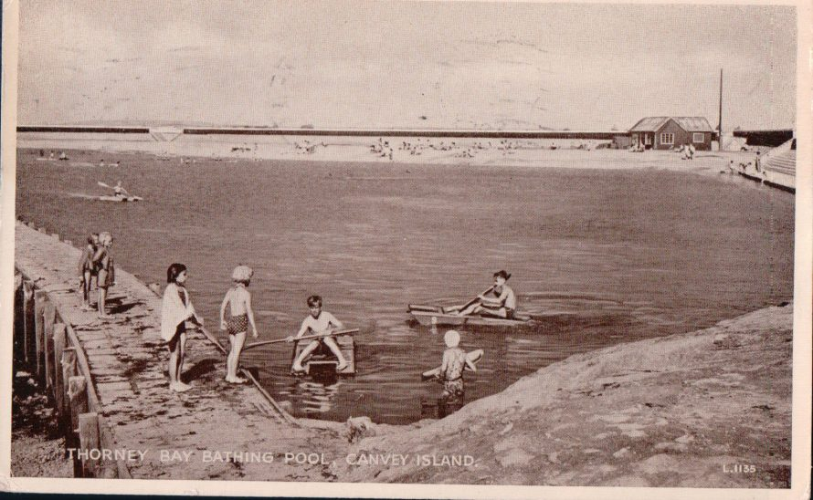 Thorney Bay Bathing Pool | Published by kind permission of the late Mr H.A. Osborne and Mr R.W Osborne.