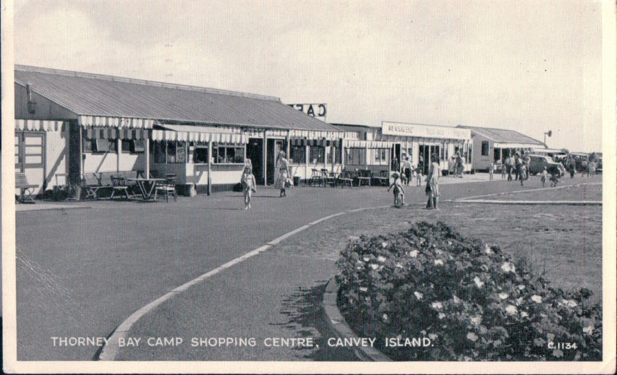 Thorney Bay Camp Shopping Centre | Published by kind permission of the late Mr H.A. Osborne and Mr R.W Osborne.