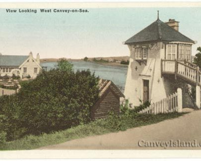 The Lighthouse with the bungalow that became the original Oysterfleet Inn left | Jim Gray