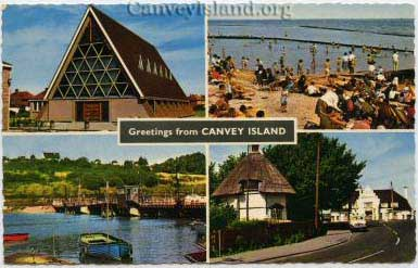 'Greetings from Canvey Island' rarley including St. Nicholas Church
