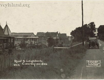 Post Card looking east towards Smallgains Corner with Cricksea on the left | Jim Gray